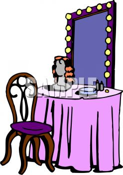 Dressing Table With A Lighted Clipart Panda Free