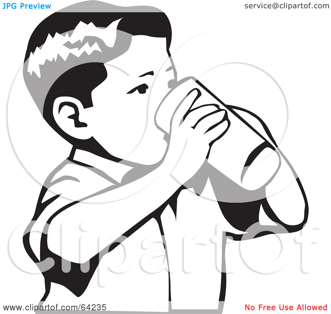 Person Drinking Tea Drawing