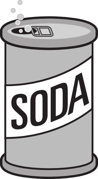 Soda Clip Art Black And White | Clipart Panda - Free ...
