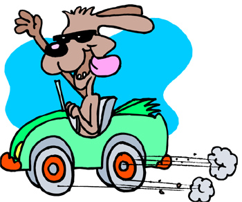 Clipart Car Driving On Road