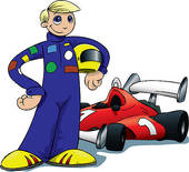 Race Car Driving Clipart
