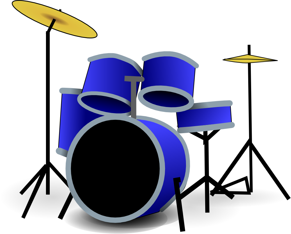 Drum Set Silhouette Hd Drum clip art
