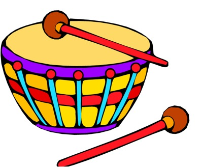Kid Playing Drums Clipart