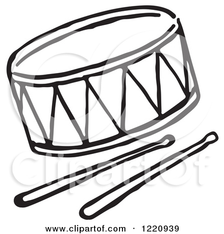 Drum 20set 20clipart 20black 20and 20white