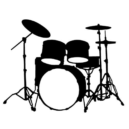 Free Coloring Pages Of Drum Set Clip Art