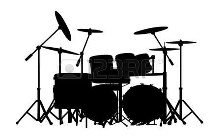 drum-set-silhouette-21933336-drum-kit-silhouette-on-white-background ... White Drum Set Silhouette