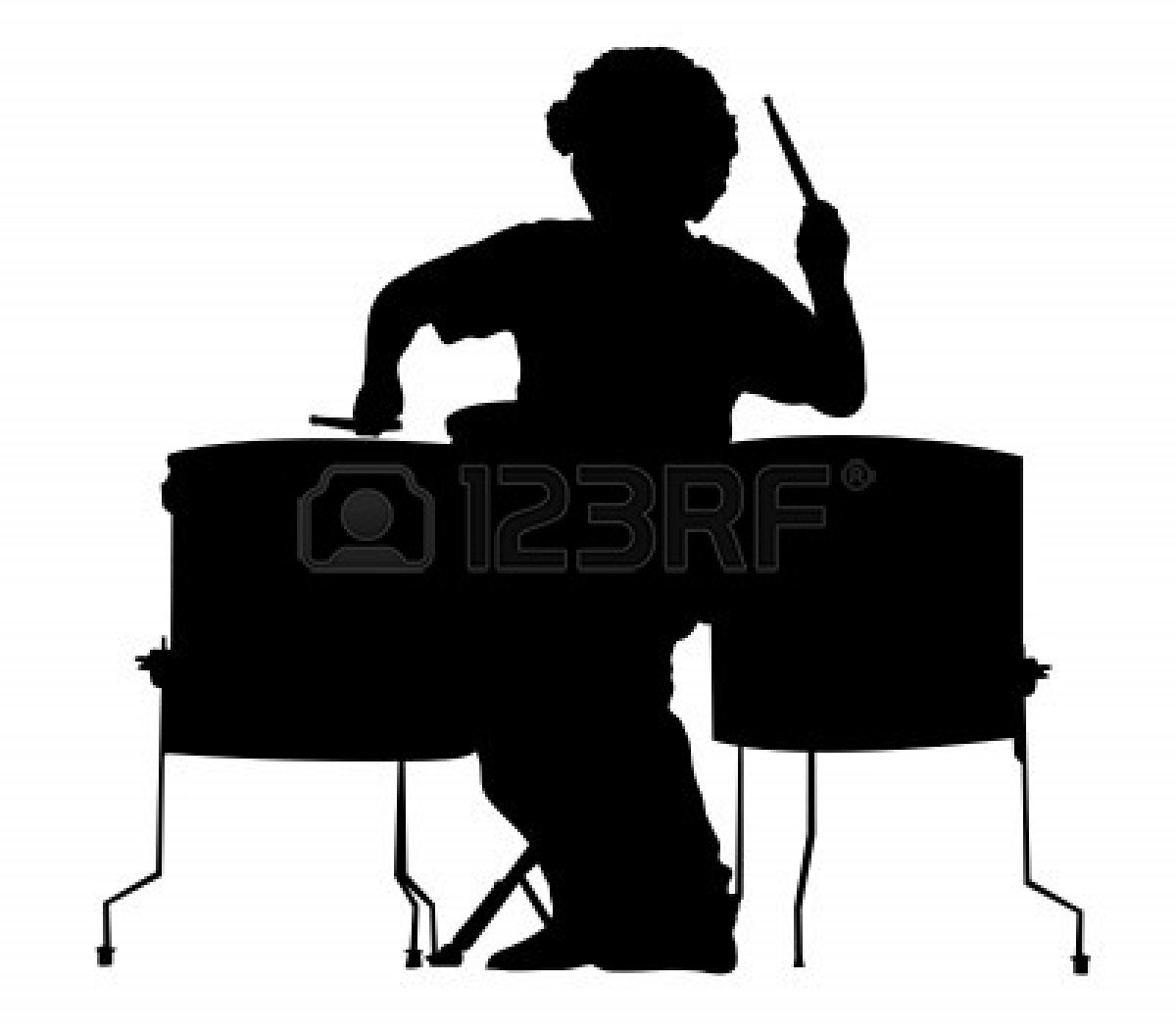 drum-set-silhouette-4507307-silhouette-of-the-drummer-on-a-white ... White Drum Set Silhouette