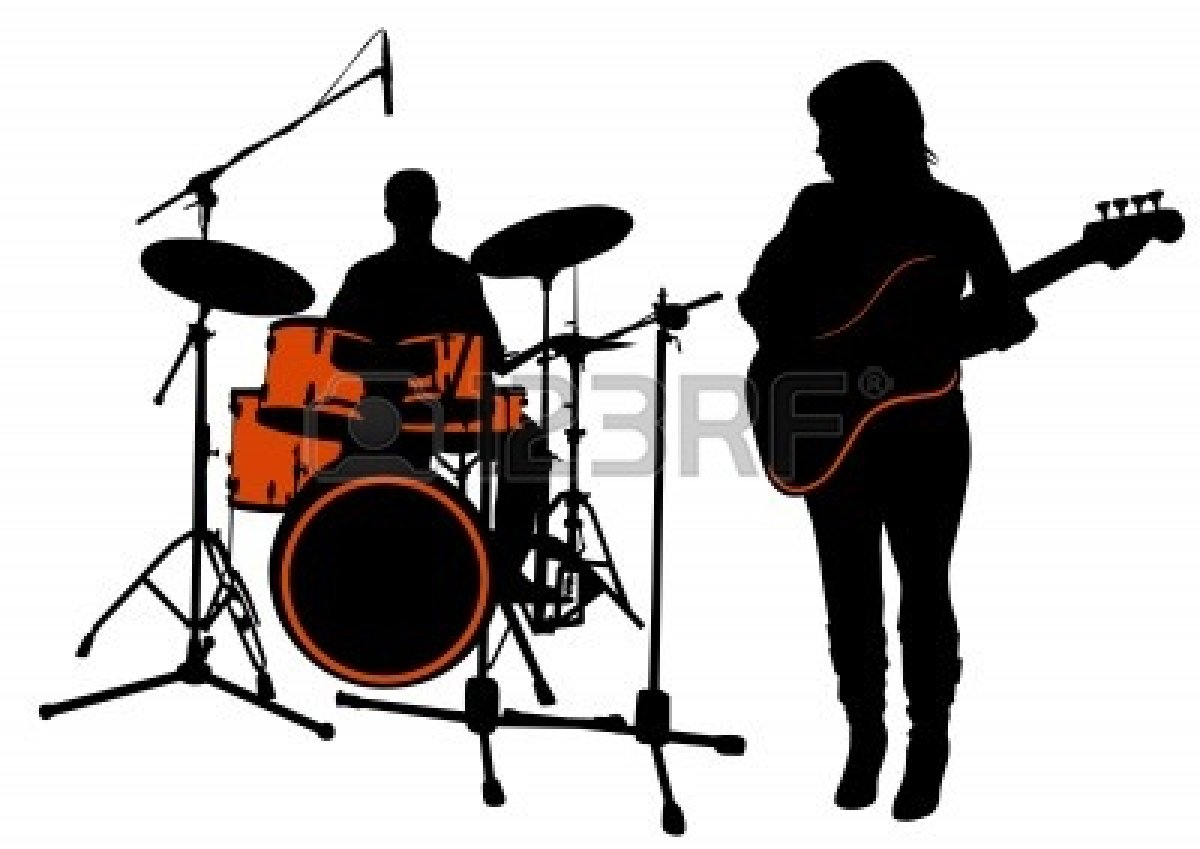 drum-set-silhouette-4913520-vector-drawing-bass-and-drummer-silhouette ... White Drum Set Silhouette