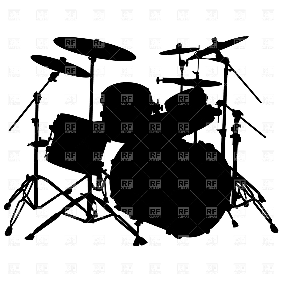 drum 20set 20silhouette White Drum Set Silhouette