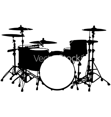 Drum Set Silhouette | Clipart Panda - Free Clipart Images