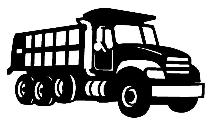 Clip Art Dump Truck Clip Art dump truck clipart black and white panda free clipart