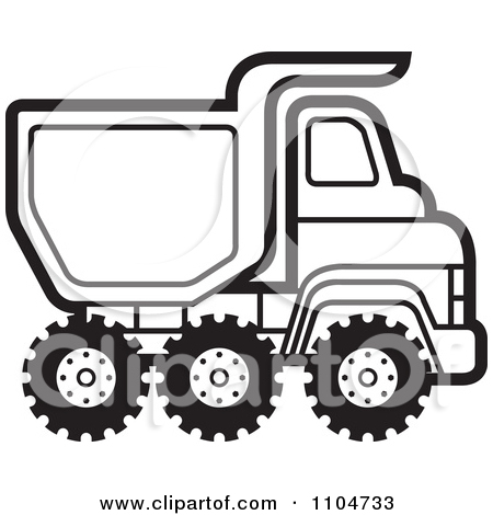Dump Truck Clipart Black And White | Clipart Panda - Free ...