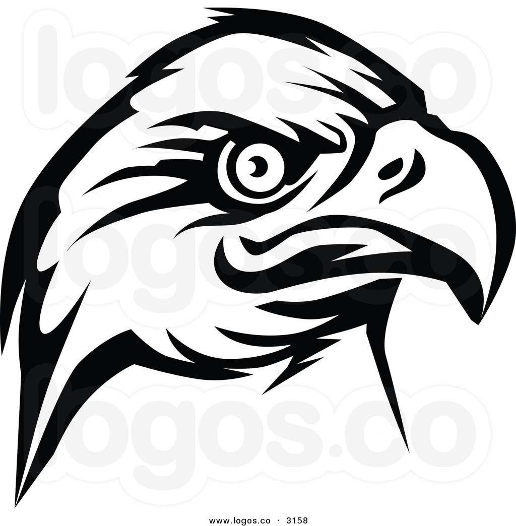 black eagle head clipart