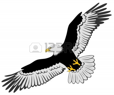 Eagle Flying Clipart Black And White