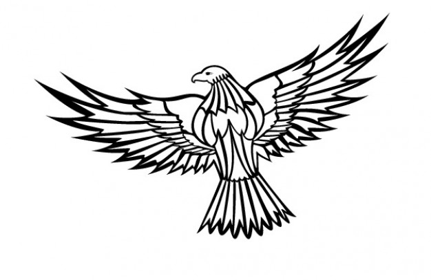 Eagle Flying Clipart Black And White | Clipart Panda ...
