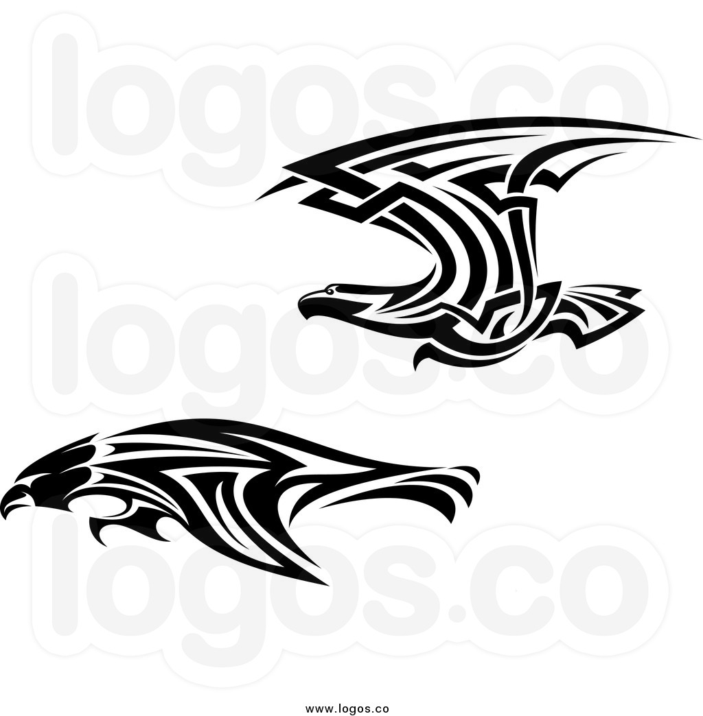 Eagle Wings Spread Clipart Black And White