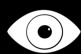 Black Eye and Ear Clip Art
