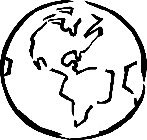 Black And White Earth clip artWorld Clipart Black And White