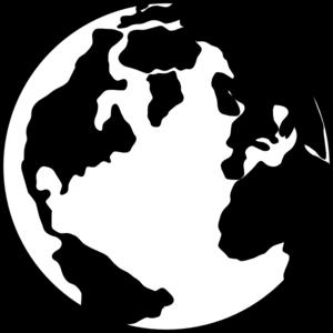 Globe Clipart Black And White | Clipart Panda - Free ...