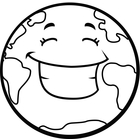 planet earth clipart black and white - photo #8