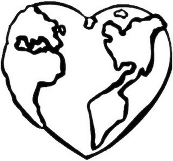 love earth day coloring pages - photo#23
