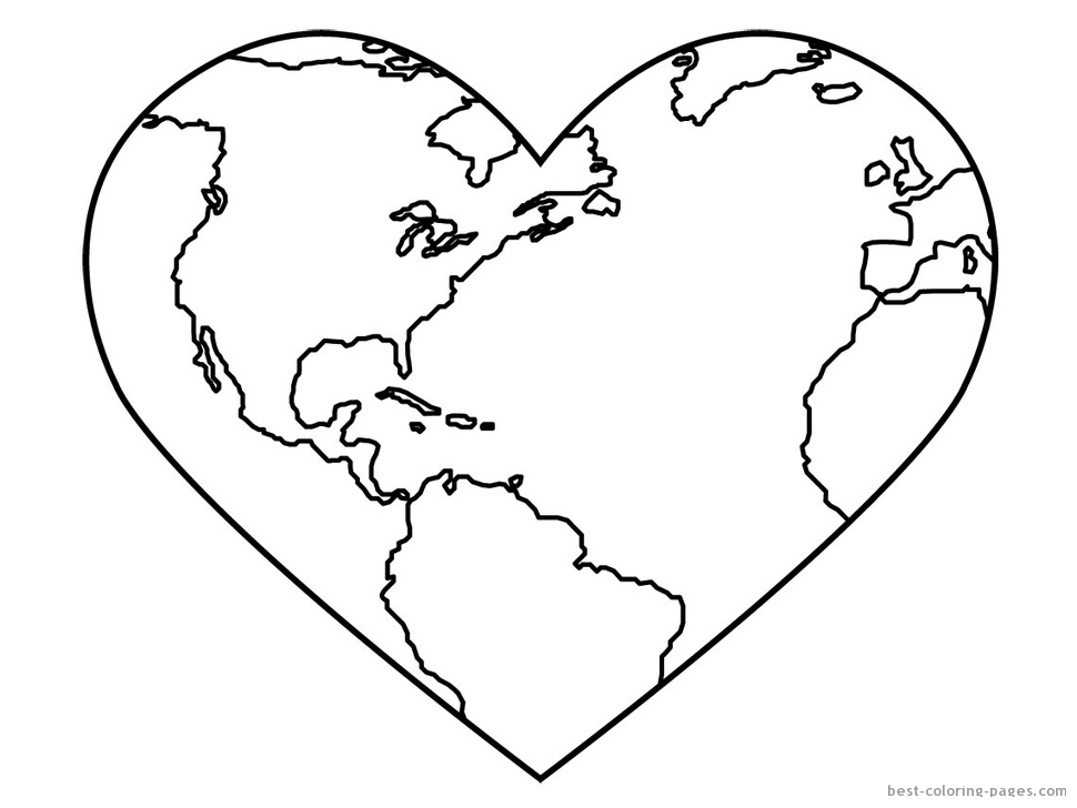 Earth Color Page 28 Images World Map Coloring Page For Earth Day Coloring Pages