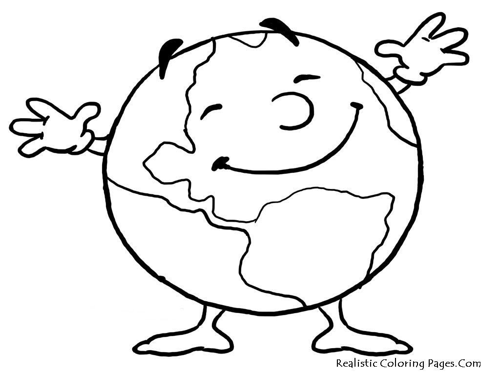 Earth Coloring Pages Printable