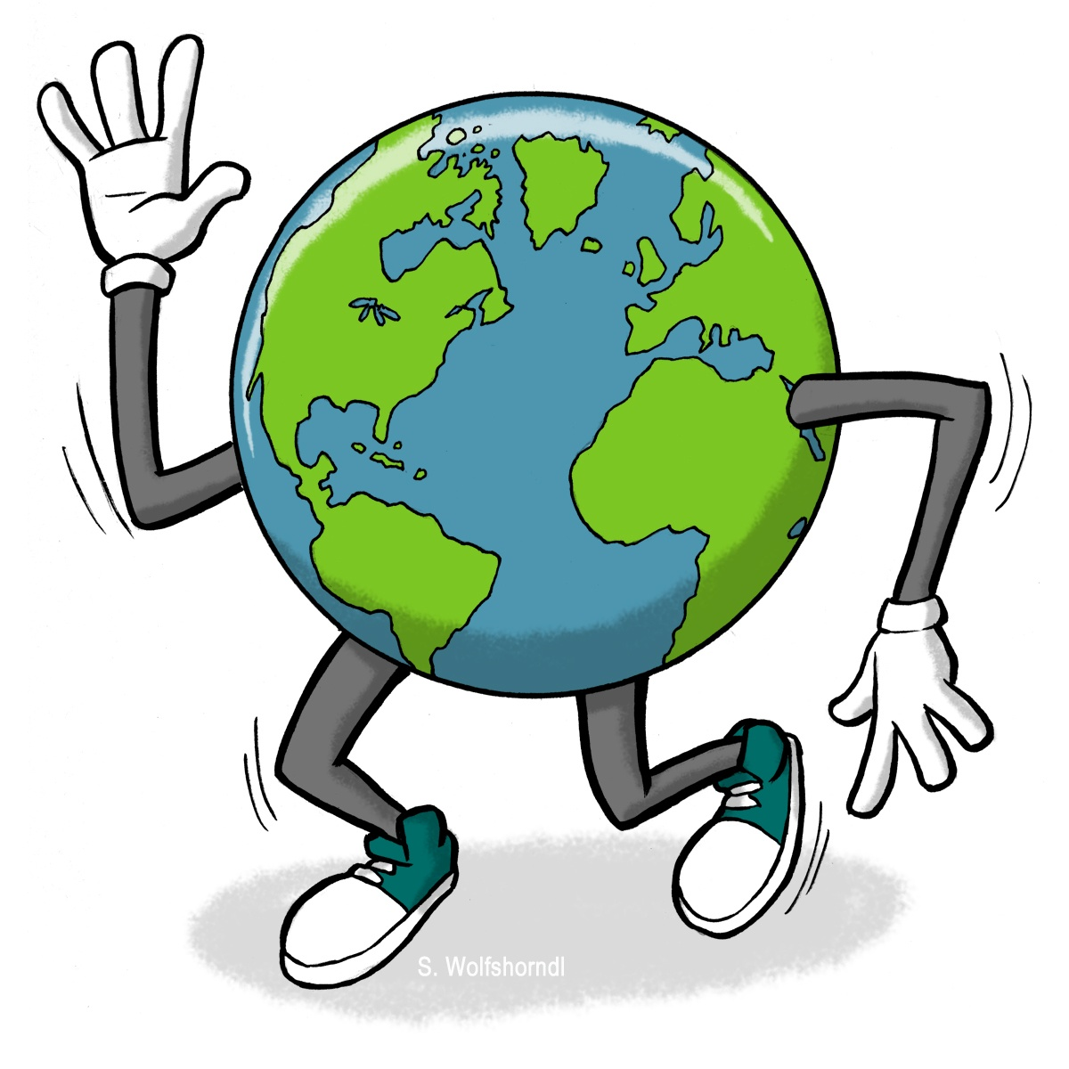 Planet Earth Clipart Black White
