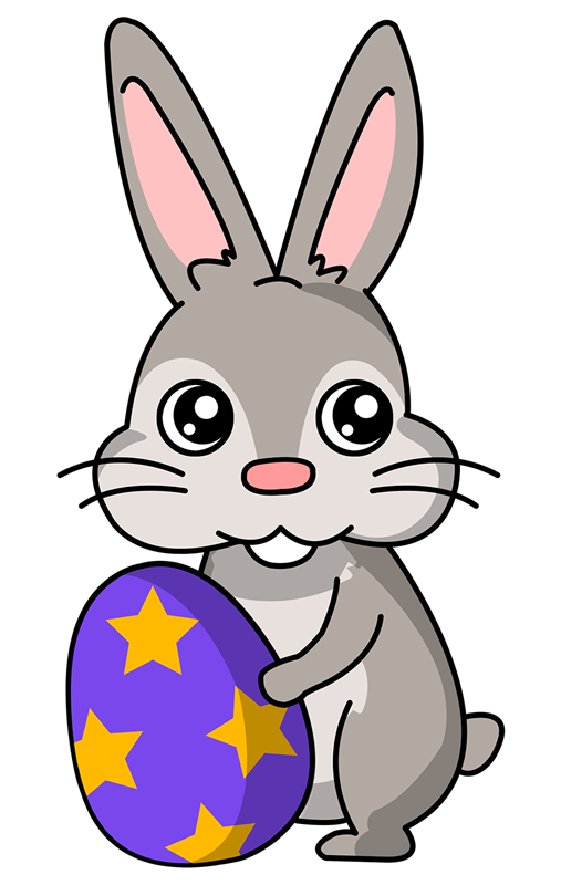 Easter bunny with eggs clipart panda free