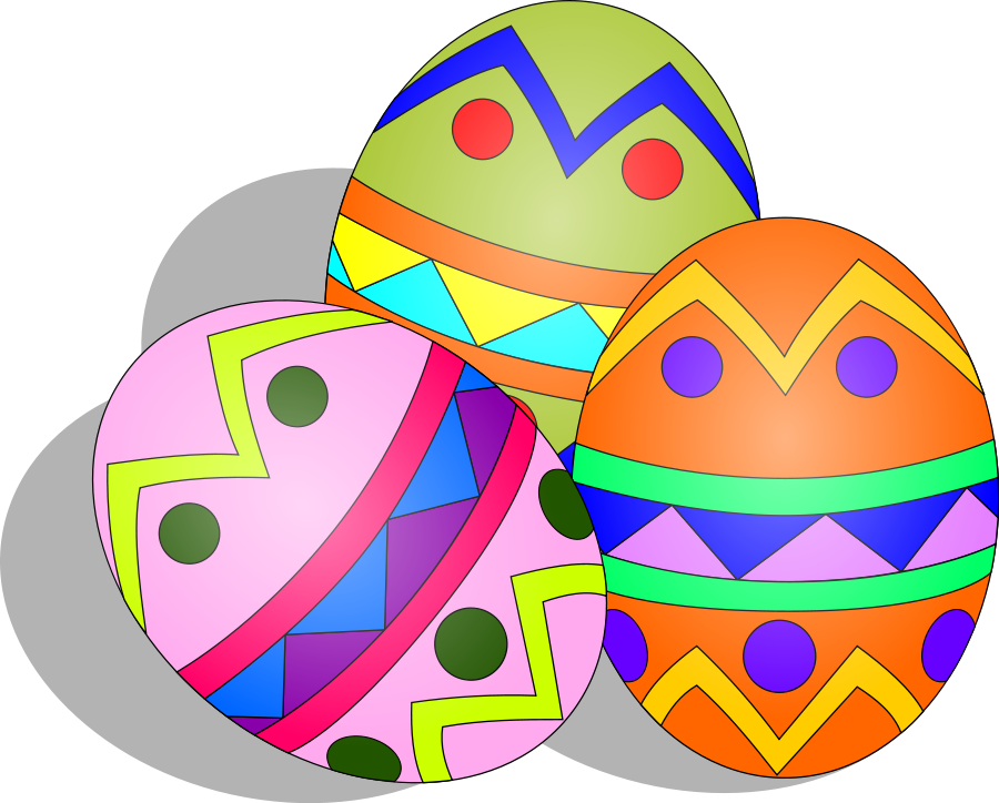 easter eggs in grass clip art