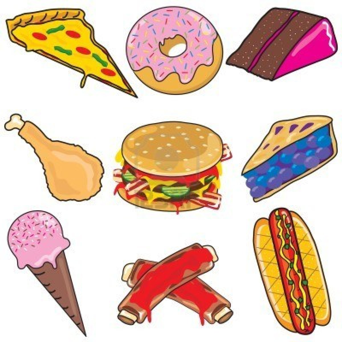 Eating Junk Food Clipart Panda Free Images