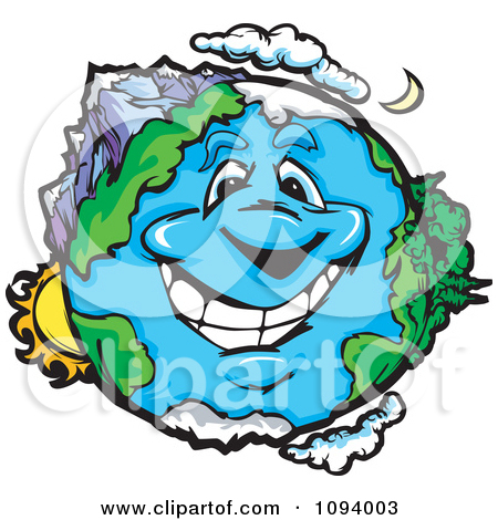 ecosystem-clipart-1094003-Clipart-Happy-Smiling-Earth-Character-With ...