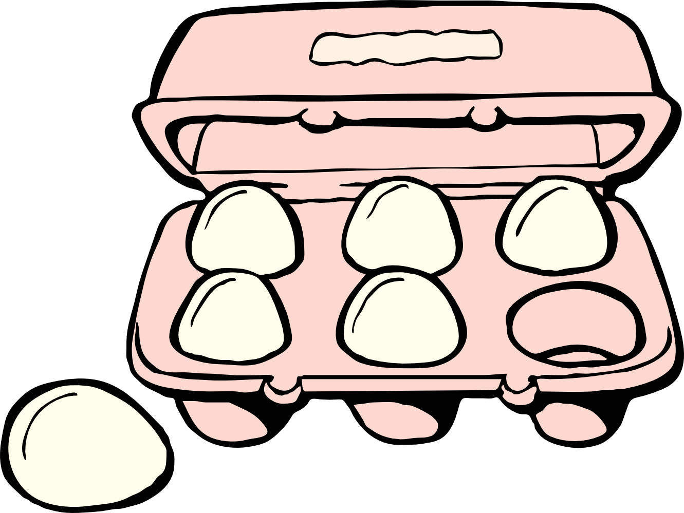 Bacon And Eggs Clip Art Black And