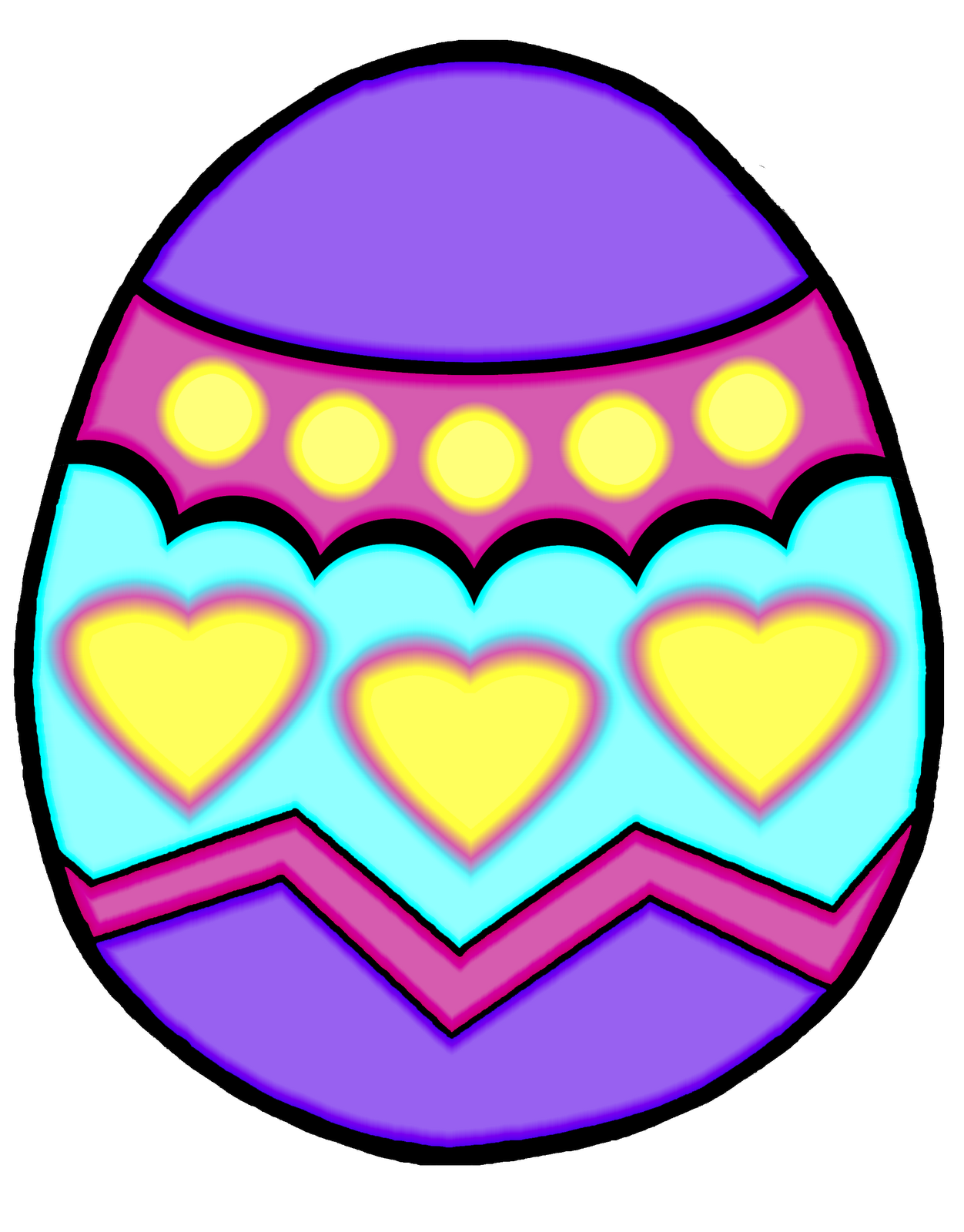 Easter Egg Clipart Black And White | Clipart Panda - Free ...