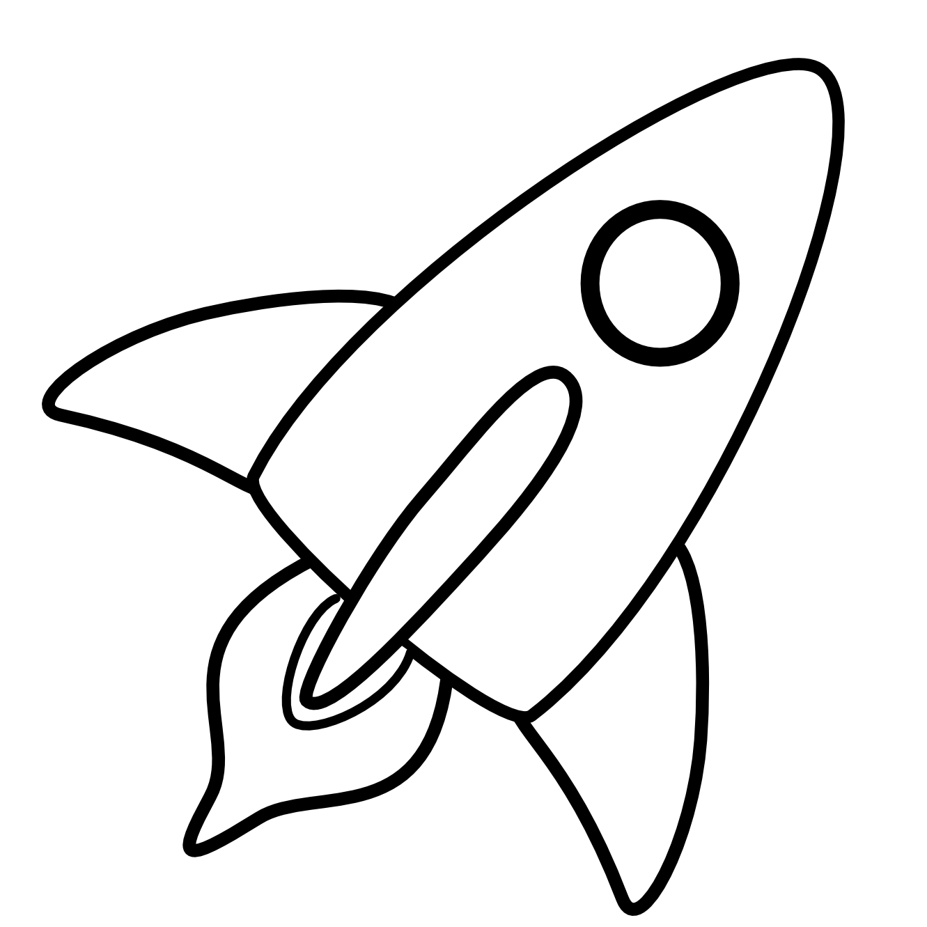 Line Art Rocket : Elbow clipart black and white panda free