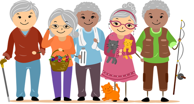 Image result for clip art elderly people