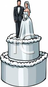 A White Wedding Cake with Clipart Panda - Free Clipart ...