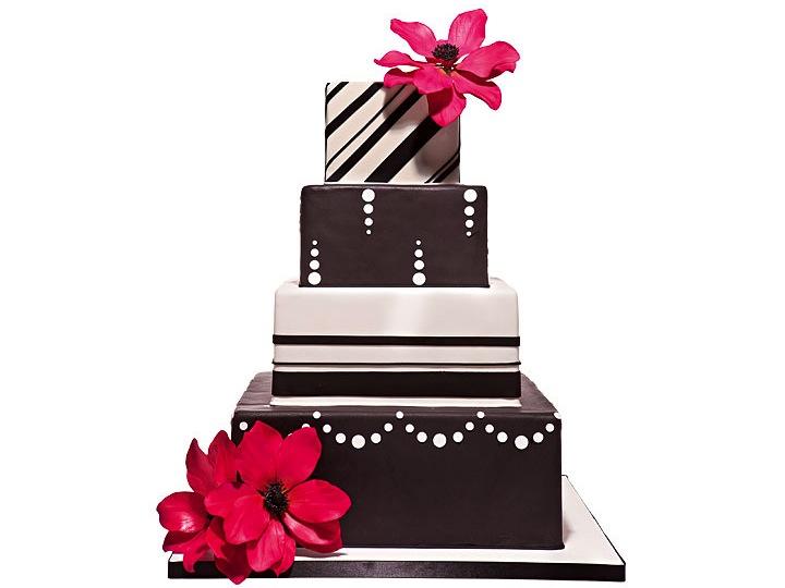 Modern Wedding Cake Clip Art