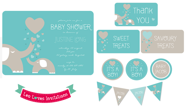 Elephant Baby Shower Theme In