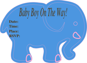Baby Shower Tur... Elephant Baby Shower Clipart