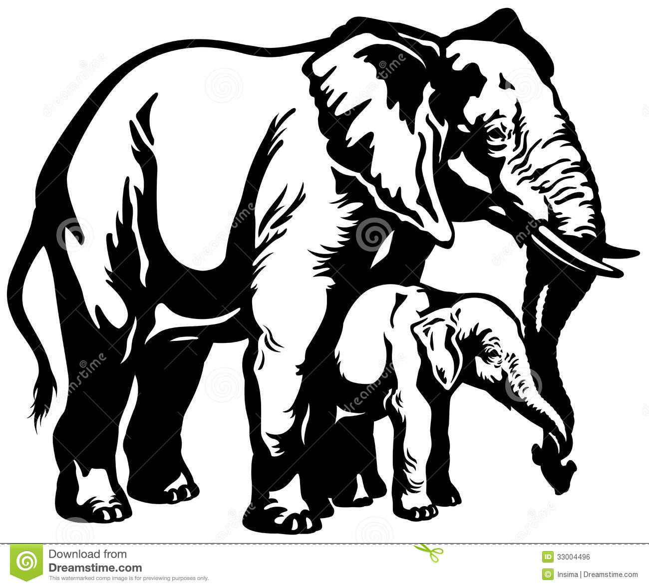Mother And Baby Clipart Elephant  clipartusecom