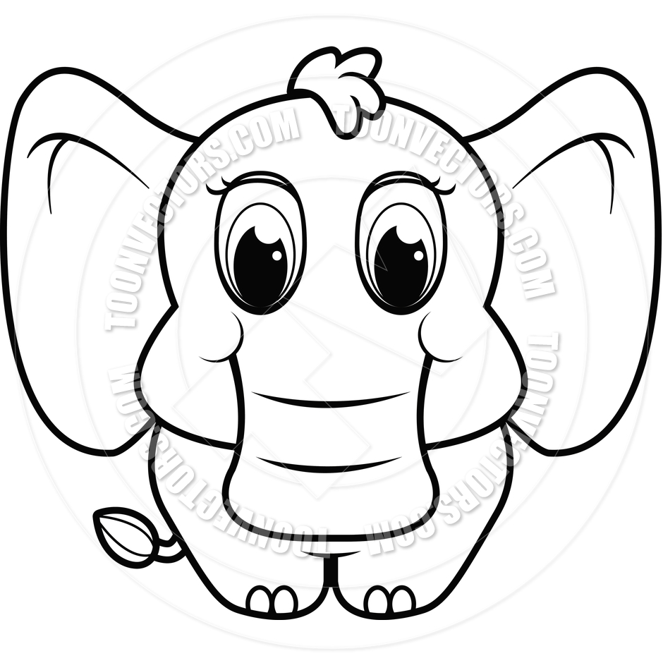 elephant%20clipart%20black%20and%20white