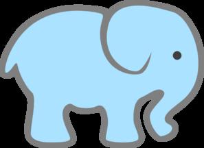 Baby Elephant Clip Art Baby Shower Elephant Clipart  free baby