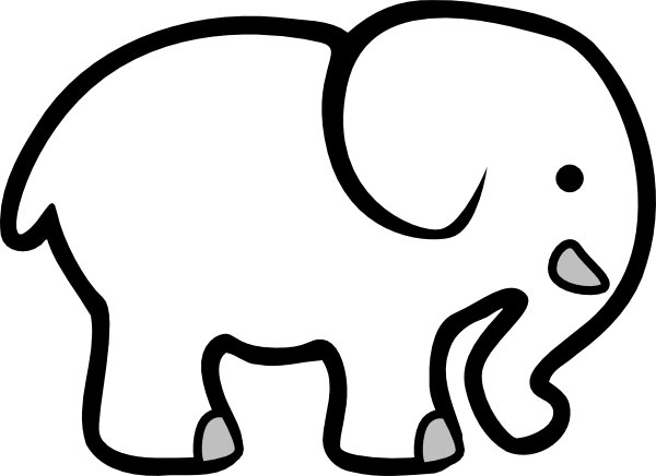 Clip Art White Elephant Clip Art elephant clip art black and white clipart panda free clipart