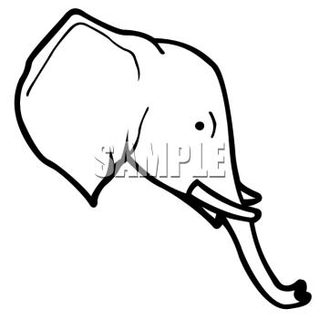 elephant face clipart outline - photo #24