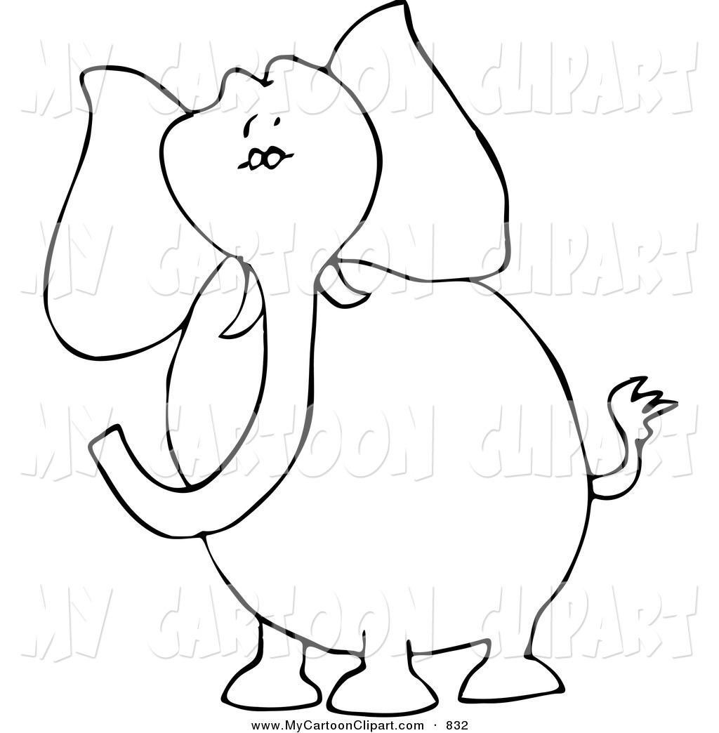 clipart elephant outline - photo #41