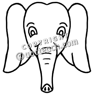 cartoon elephant face clipart panda free clipart images rh clipartpanda com Vintage Elephant Clip Art Elephant with Umbrella Clip Art