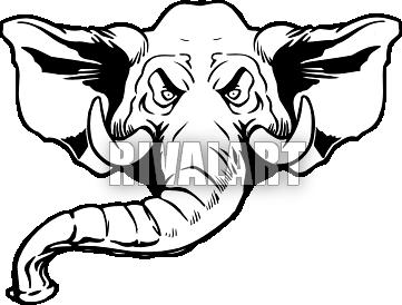 Elephant Head Clip Art | Clipart Panda - Free Clipart Images