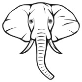 Elephant Face Animal Free Black White Clipart Images Clipartblack