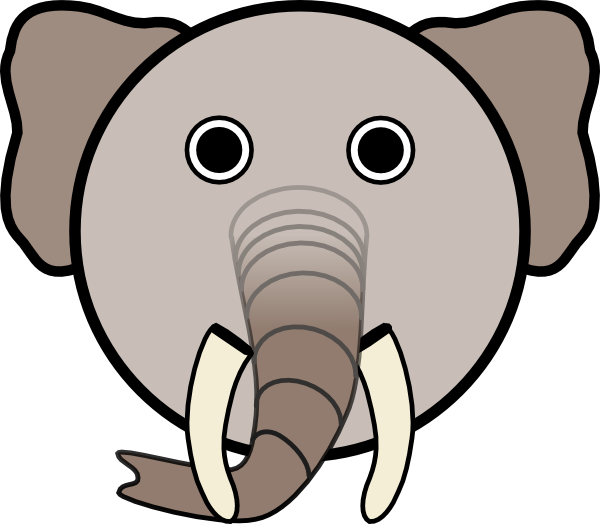 elephant head clipart clipart panda free clipart images rh clipartpanda com